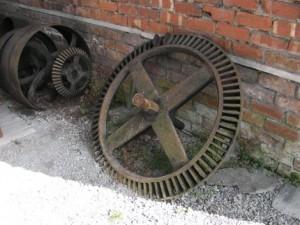 Enormous cogwheels at Stott Park bobbin mill
