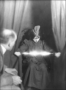 Medium Eva Carriere, photographed in 1912