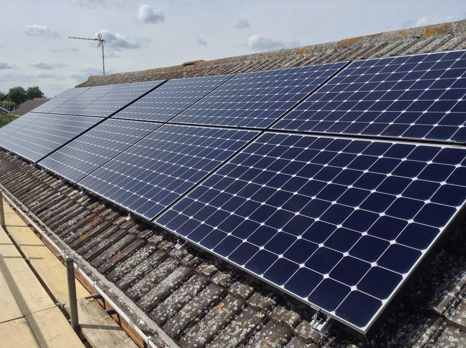 Solar panels — a yearon